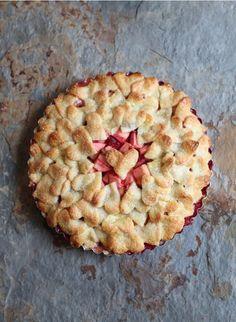 Apple & Raspberry Heart Tart