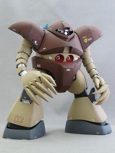 MG ゴッグ Earth Tone Colors, Custom Gundam, Super Robot, Star Wars Action Figures, Gundam Model, Mobile Suit, Miniatures, Toys, Robots
