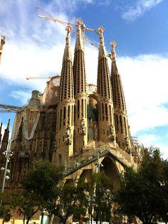 The Sagrada Familia in Barcelona.