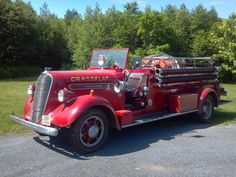 This 1938 Studebaker K15, with Philadelphia Fire Truck Works body, has a 500-gpm Darley pump and 300-gallon tank. It originally served Oldwick, NJ.  http://www.setcomcorp.com/fire.html