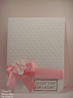 Happy New Baby by bon2stamp - Cards and Paper Crafts at Splitcoaststampers