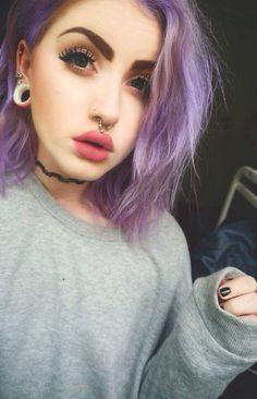 nose, septum and medusa piercings