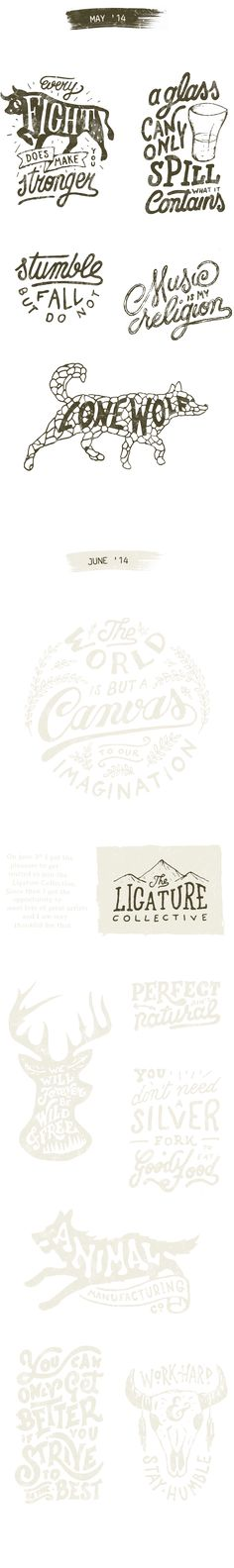 Typography Collection 2014 By: Mark van Leeuwen