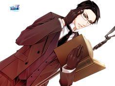 william t spears | Render William T Spears Shinigami Livre Kuroshitsuji Black Butler Brun ...