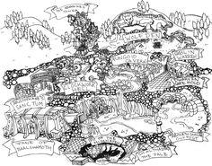 Megadungeon IV - Nodal Dungeon Tourist Map