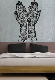 Henna Hands - uBer Decals Wall Decal Vinyl Decor Art Sticker Removable Mural Modern A865
