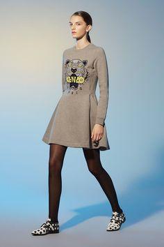 Kenzo Tiger Flared Dress - Kenzo Dresses Women - Kenzo E-shop