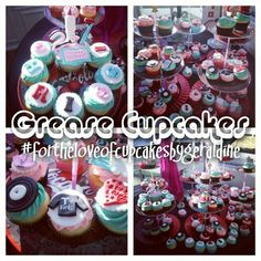 Grease Cupcakes #fortheloveofcupcakesbygeraldine https://m.facebook.com/profile.php?id=180343555337010