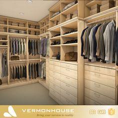 Hangzhou Vermont Corner Bedroom Furniture Wardrobe Closet with Mirror