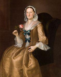 Portrait of Jane Lucus Brown, the wife of Captain John Brown, by Joseph Blackburn Datec. 1754
