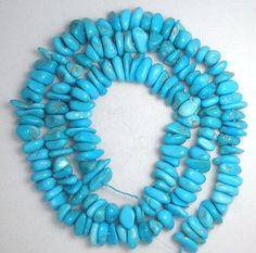 Sleeping-Beauty-Turquoise-Loose-Small-Pebble-Gemstone-Beads-Blue-18-034-Std-43