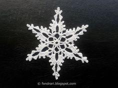 Heklað snjókorn # 1 - íslensk þýðing - Enchanted Forest Snowflake