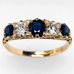 If anyone is looking to buy me jewelry. 1900 sapphire diamond ring.