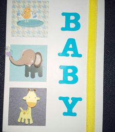 Baby with elephant & giraffe Giraffe, Elephant, Greeting Cards, Baby, Home Decor, Felt Giraffe, Decoration Home, Room Decor, Giraffes