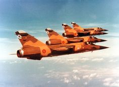 A flight of 4 Spanish Air Force Dassault Mirage F1s