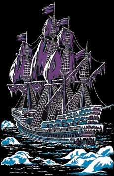 Ice Ship Black Light Poster