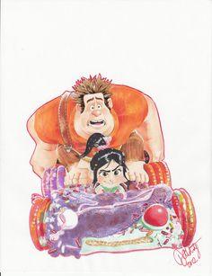 Wreck-It Ralph & Vanellope Von Schweetz