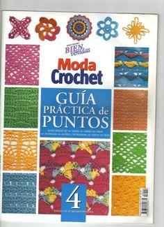 """BOOK: """"Crochet Stitch Guide"""" Moda Crochet Guia practica de puntos №4. All with diagrams"""