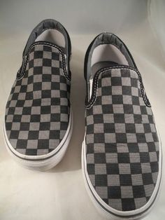 VANS OFF THE WALL Checkers Canvas Slip-On Sneakers Skate Shoes Women 8 Mens 6.5