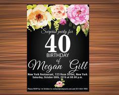 Surprise birthday invitation templates by UniqueGoldenCards 90th Birthday Invitations, Birthday Invitation Templates, Surprise 30th Birthday, 80th Birthday, 80 Birthday
