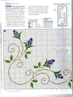 rosas - bordado ponto cruz [] #<br/> # #Cross #Stitching,<br/> # #Charts,<br/> # #Projects,<br/> # #Cross #Stitch,<br/> # #Cross #Stitch,<br/> # #Embroidery,<br/> # #Tablecloths,<br/> # #Peace,<br/> # #I #Walk<br/>