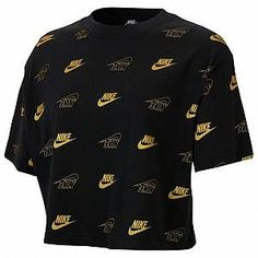 Nike Sportswear Women's Cropped T Shirt Girls Fall Outfits, Cute Teen Outfits, Nike Outfits, Retro Outfits, Outfits For Teens, Sport Outfits, Sweat Shirt, T-shirt Crop, Crop Tops