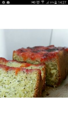 Spiced plum butter and poppy seed cake