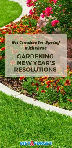Get creative for spring with these gardening new year's resolutions. Spring Garden, Resolutions, Beautiful Homes, Gardening, How To Plan, Creative, Outdoor Decor, Tips, House Of Beauty