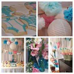 A Southern Hostess: Aqua and Pink Lingerie Shower