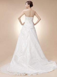 Strapless Taffeta Wedding Gown with Pick Up Skirt #wedding #dress
