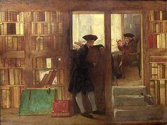 William Fettes Douglas - The Bibliophilist's Haunt or Creech's bookshop 1891 England