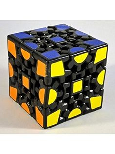 Magic Combination 3d Gear Cube I Generation Black Painted Stickerless Twisty Puzzle Magic Cube