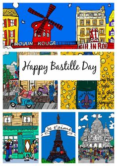 Happy Bastille Day! Shop All Things French at www.LauraLovingHappy.com - http://www.lauralovinghappy.com/store/holidays/bastille-day