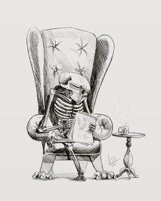 regram @adamdubuisson So I'm seriously late on day 1 of @drawlloween  here's yesterday's 'Return from the dead' #drawlloween2016 #drawlloween #drawing #sketch #sketchbook #art #artist #skull #Halloween #artwork #ipad #procreate #applepencil #inktober #illustration