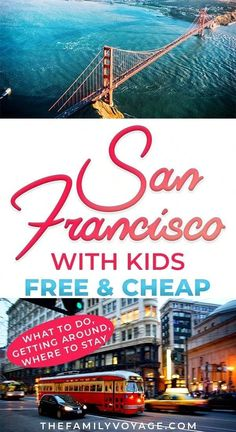 Check out all the best free things to do in San Francisco - and a few cheap ones too. We've got kid-friendly activities where to eat in San Francisco on a budget how to get around and where to stay in San Francisco. Traveling With Baby, Travel With Kids, Family Travel, Family Trips, California With Kids, California Travel, Southern California, San Francisco With Kids, Budget Travel