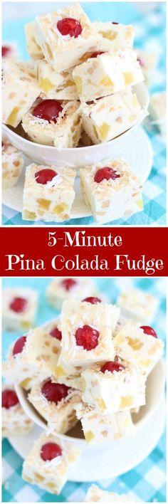 5-Minute Pina Colada Fudge