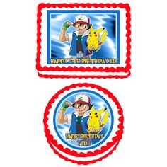 Pokemon Pikachu Edible Cake Cupcake or Cookie by TheCakeTopperZone