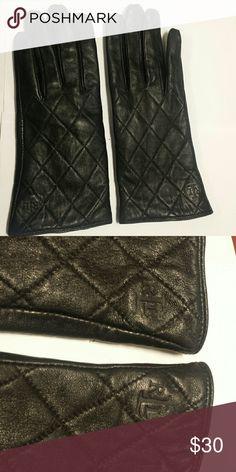Ralph Lauren XL black lambskin gloves Rarely worn. Has RLL symbol at wrist Ralph Lauren Accessories Gloves & Mittens