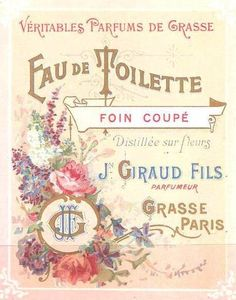 Vintage French perfume label.