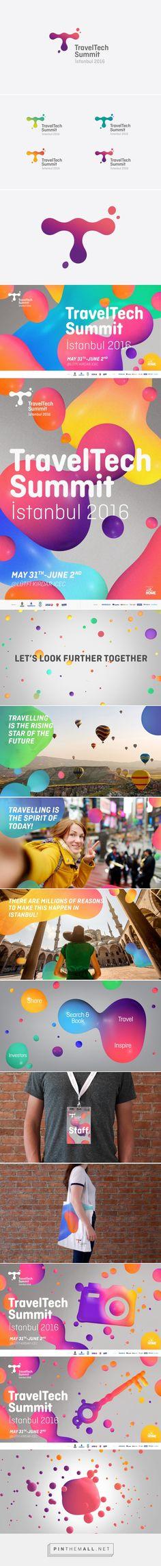 Travel Tech Summit on Behance. - a grouped images picture - Pin Them All Event Branding, Tech Branding, Graphic Design Branding, Corporate Design, Tech Logos, Identity Design, Visual Identity, Brand Identity, Web Design