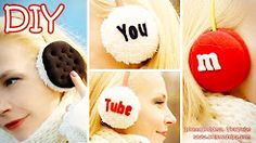 In this video tutorial I show how to make easy, cozy and cute DIY Earmuffs. All you'll need is an old sweatshirt, a headband and 2 plastic Pringles caps (or . Candy Crafts, Fun Crafts, Diy And Crafts, How To Make Ghosts, Diy Phone Case Design, Old Sweatshirt, Princesa Leia, Diy Notebook, Diy School Supplies