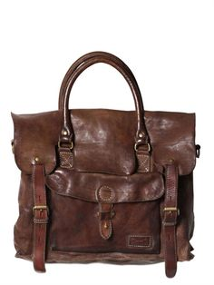 OFFICINE CREATIVE - VINTAGE TUCSON LEATHER MESSENGER BAG - LUISAVIAROMA -  LUXURY SHOPPING WORLDWIDE SHIPPING - 8a7d01f9af465