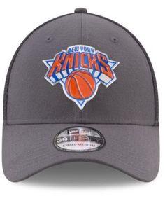 New Era New York Knicks On Court Graph 39THIRTY Cap - Gray S/M