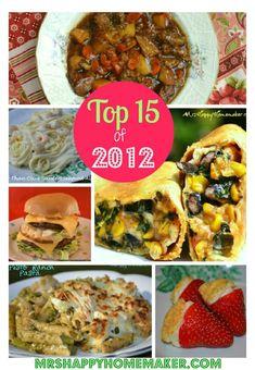 The Top 15 of 2012 - Mrs Happy Homemaker