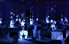 """Star Centerpieces   The first and one of the most beautiful """"star""""theme wedding decoration ..."""