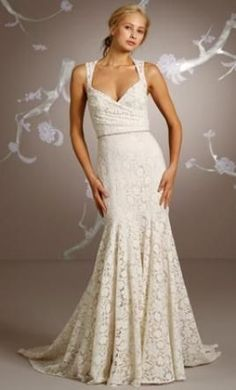 sexy wedding dress, country wedding dress, lace wedding dress, available at Wildflower Bridal