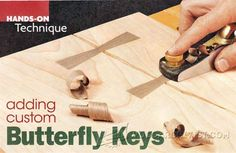 Butterfly Joint - Joinery Tips, Jigs and Techniques | WoodArchivist.com