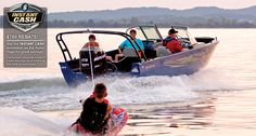 Grab a wakeboard or a fishing pole and hop on the versatile 2020 Lowe FS Ready for water sports fun or fishing action. Deck Boats For Sale, Fishing Boats For Sale, Small Fishing Boats, Aluminum Jon Boats, Aluminum Fishing Boats, Lowe Boats, Sport Boats, Pontoon Boat, Open Water