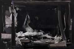 "Nicola Samori ""Shrine""  Oil on Linen 200cm x 300cm."