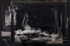"""Nicola Samori """"Shrine""""  Oil on Linen 200cm x 300cm."""